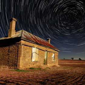 This Star Trail was captured in outback, South Australia.
