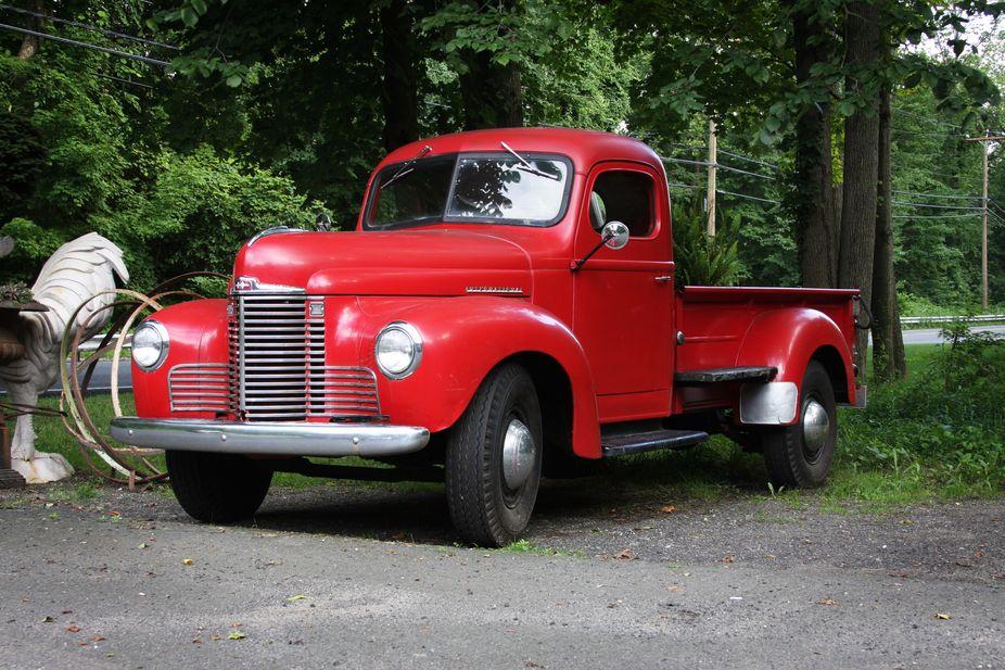 Old Red International pickup truck