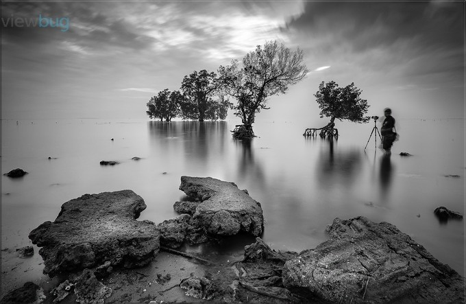 lonely photographer by matoy - Awesomeness In Black And White Photo Contest
