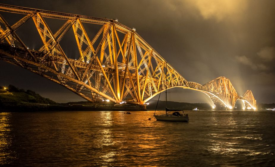 The Forth Bridge is a cantilever railway bridge over the Firth of Forth in the east of Scotland, ...