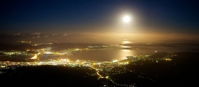 Hobart Moon by LordHippo - Moonlight Photo Contest