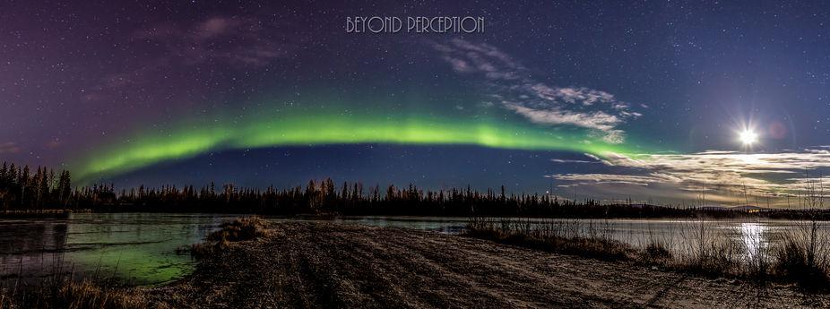 a 3-shot pano taken near north Pole, AK
