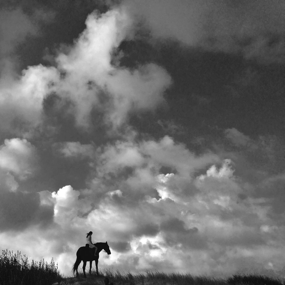 Iphonography - in the clouds by sildsa - People In Large Areas Photo Contest