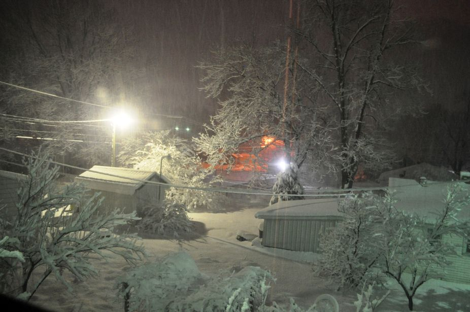Taken last December, 12/28/12, when we had our blizzard in IL. The view I saw outside my upstairs...