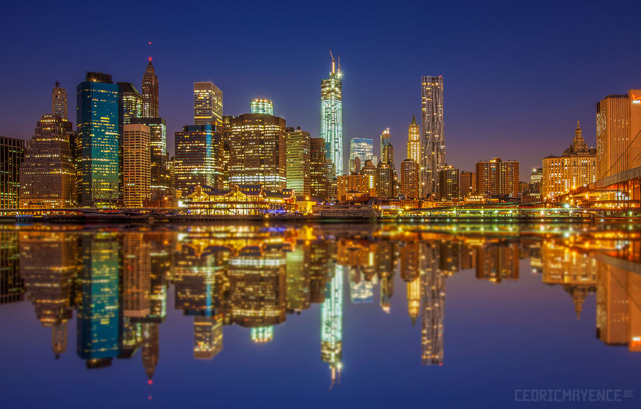 Manhattan Skyline Reflections - NYC