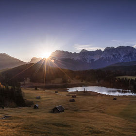 sometimes it`s worth to wake up early. That`s the Karwendel, a group of the highest mountains in germany near the zugspitze, the highest peak wit...
