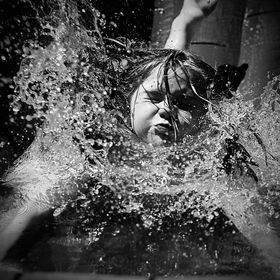 Emma splash BW