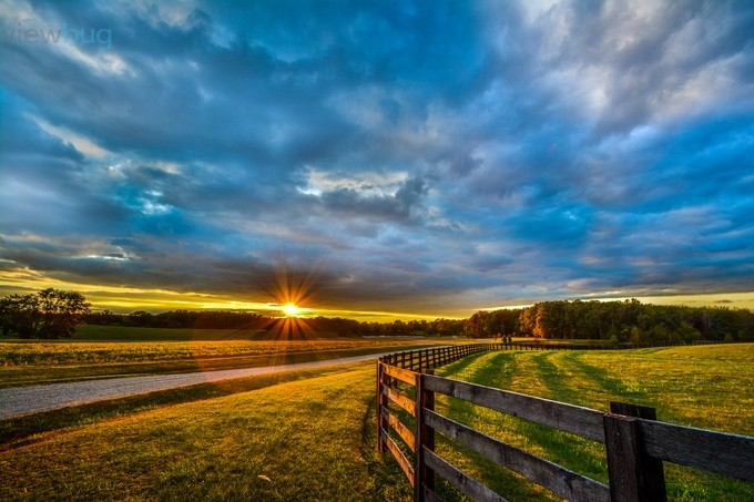 Sunset over the Farm by jackbellamy - Cloud Painting Photo Contest