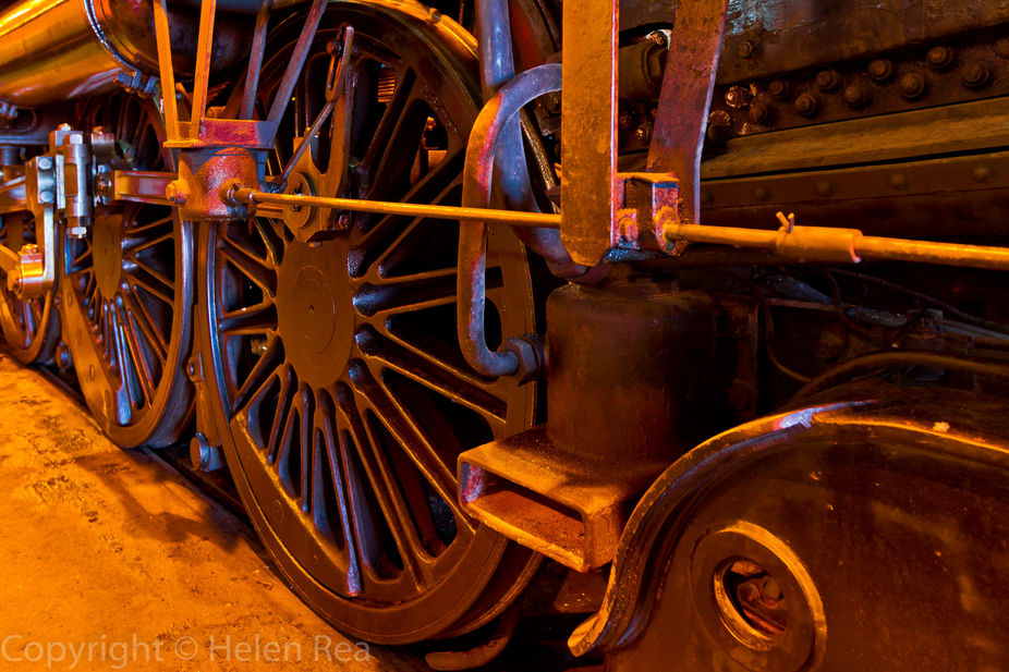 Circa 1905 Steam Locomotive. Taken using Canon 7D. Exposure 1.0 sec at f2.8, 16mm, ISO 100, 16-35mm lens. Post-processed Lightroon 5.2