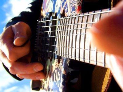 Gene P Kelly close up electric guitar