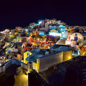 Summer in Greece, Night in Oia, Santorini.