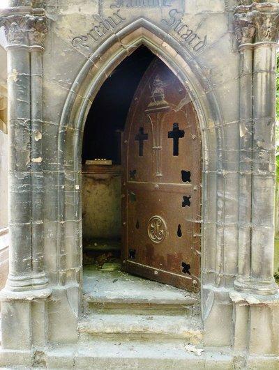 Crypt Door Pere Lachaise Cemetery, Paris