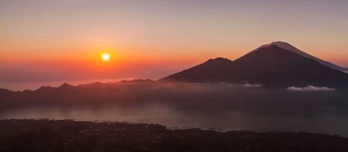 Sunrise from Mount Batur, Bali by alastairdixon