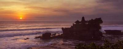 Tanah Lot Temple at Sunset, Bali