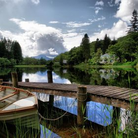 A peaceful and tranquil scene of Loch Ard, taken during the Summer months.
