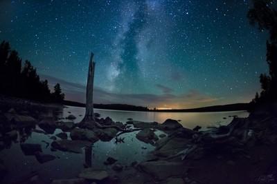 Milky Way over Moosehead Lake