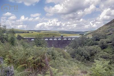 A dam in  wales