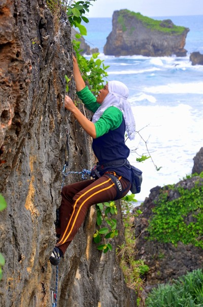 climbers on the spot