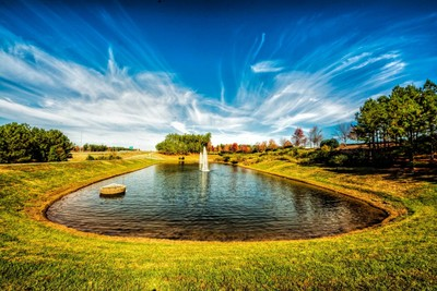 Pond with Fountains