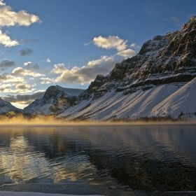 Sunrise at Bow Lake, Banff national park Ab