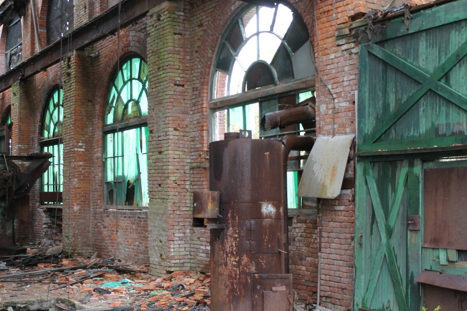 Old condemned building in NY. There were giant holes in the floor and we had to be careful. It\'s ...