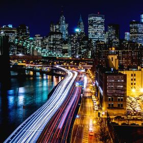 4 hours drive into New York City Friday evening rush hour, long walk on Manhattan Bridge in 40 degrees cold, all just just for this shot :) D600 ...