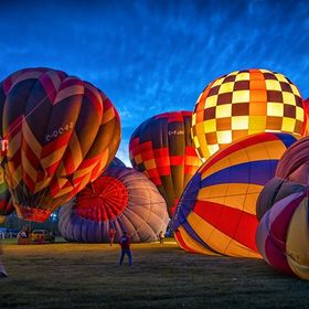 Night Glow Event at the 2013 Canadian Hot Air Balloon Championship