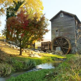 An old mill we found while crossing English Mountain in East Tennessee.