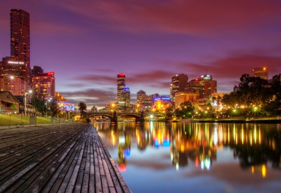 Night Lights on the Yarra River