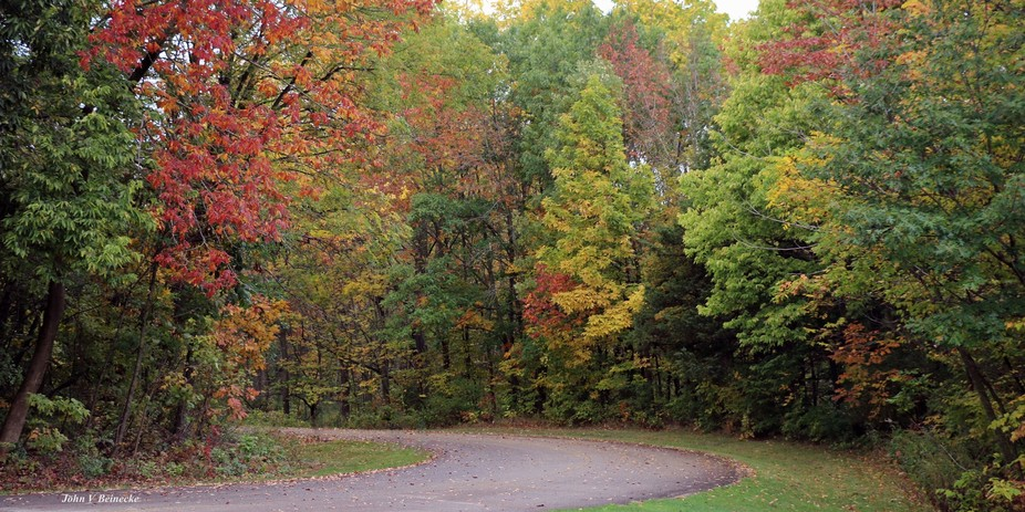 Fall colors in Silver Lake Park in Kenosha County Wisconsin.