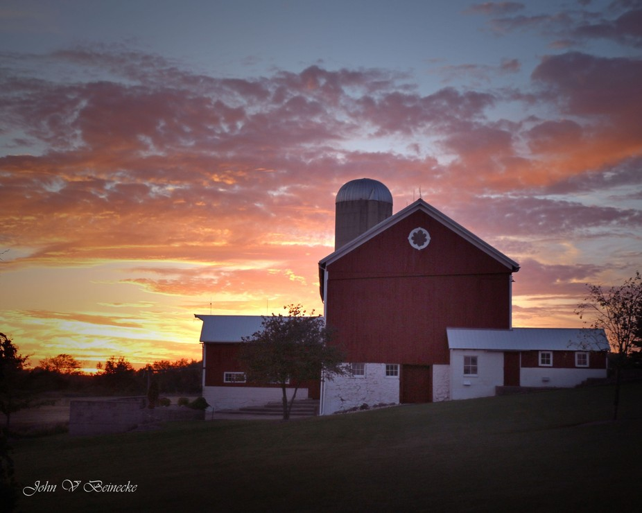 Sunset in Waterford Wisconsin