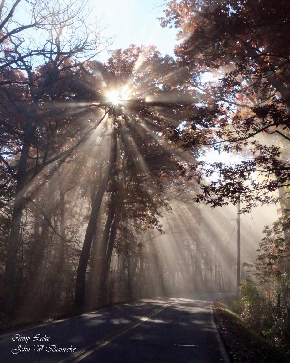 Sun rays in Salem, Wisconsin.