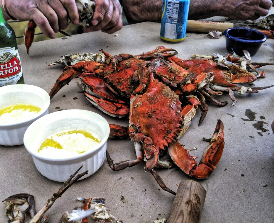 Annual Father\'s Day crab feast.
