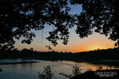 Current River Sunset