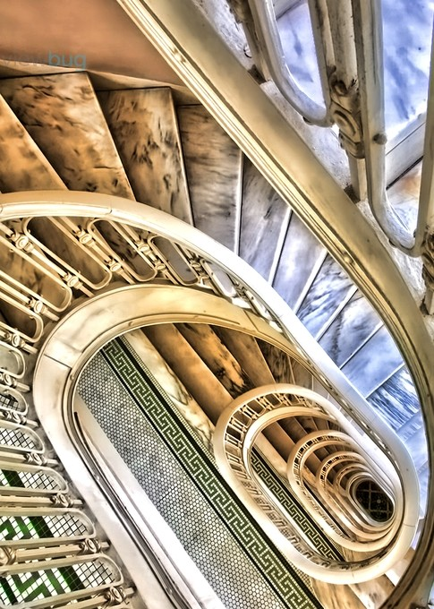 Looking Down by LindaDLester - Twisted Lines Photo Contest