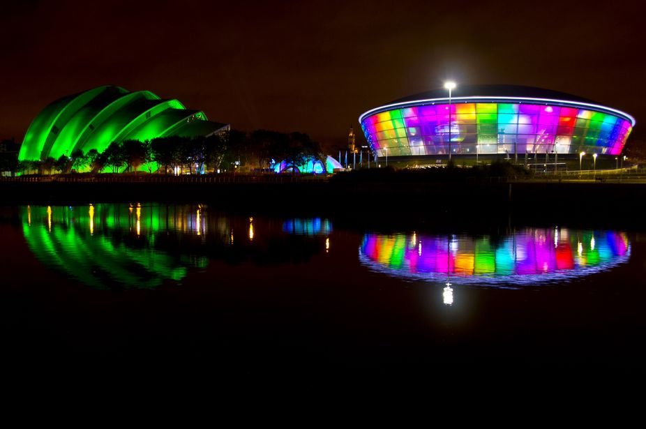 Glasgow Hydro and Armadillo concert halls