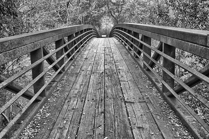 Over the Bridge by rhmimages - Textures In Black And White Photo Contest