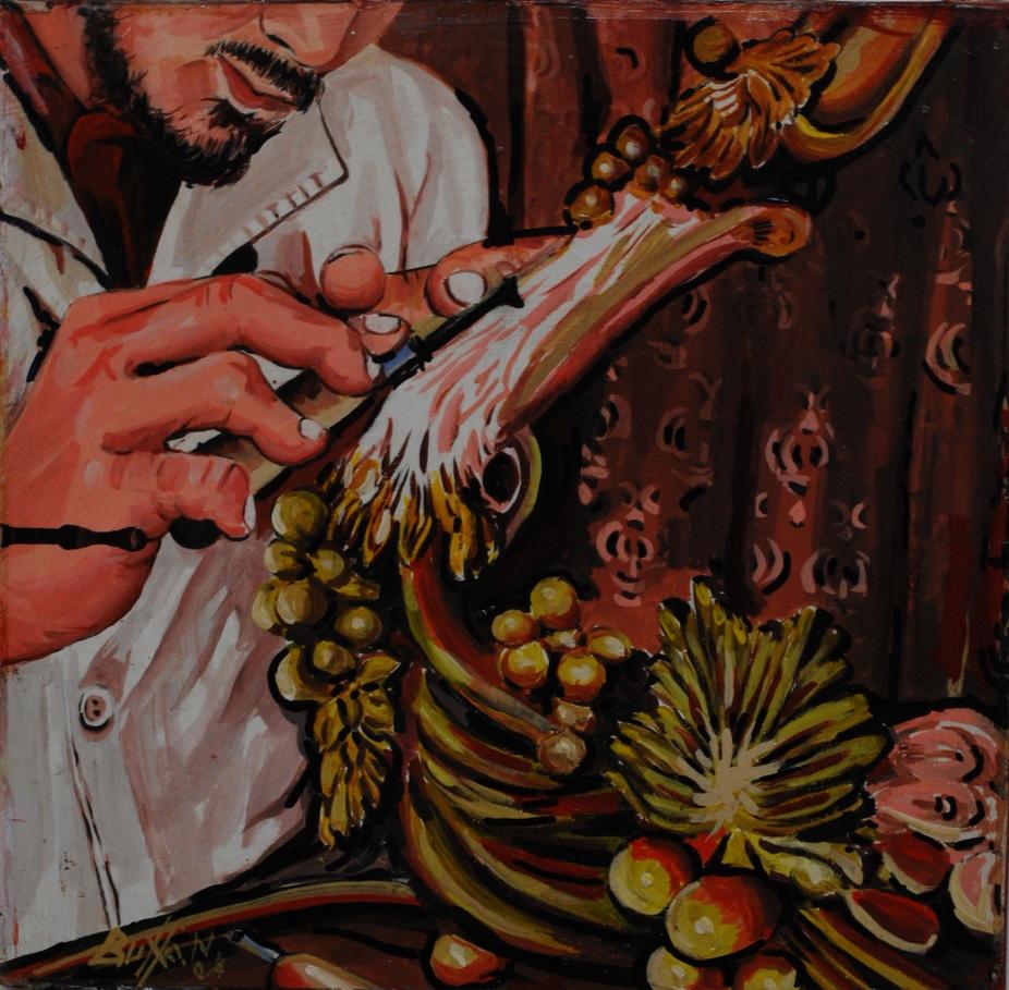 tela cm.35x35 del sig.Buffa ,pittore cagliaritano.