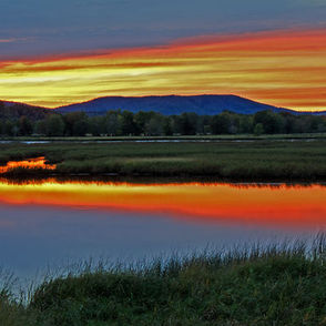Sunset over the Nerepis Marsh, NB, Canada.