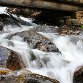 The bridge is one of two major crossings along the trail on Ouzel Falls in Rocky Mountain National Park. It's a great place to do a day hike and ...