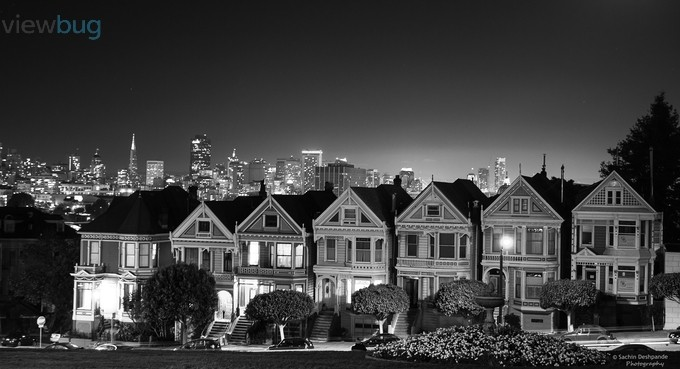 Painted Ladies - San Francisco by sachinus2010 - Depth In Black And White Photo Contest
