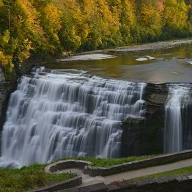 The Middle Falls of the Genesee River in Letchworth State Park in New York.