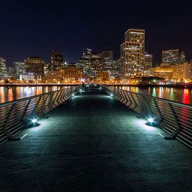 A night shot from San Francisco's Pier 14