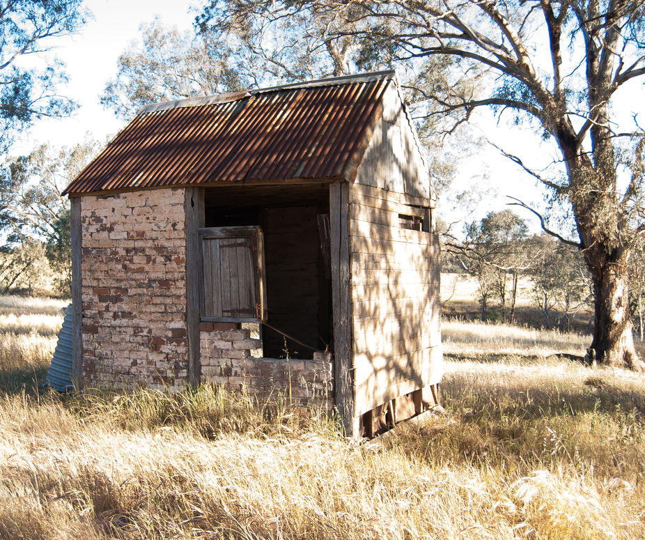 An old hut on a farm in rural New South Wales.