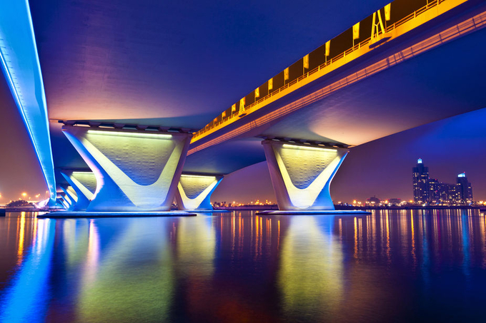 Al Garhoud Bridge by ecmguy - Under The Bridge Photo Contest