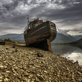 abandoned ship in Corpach Scotland.....