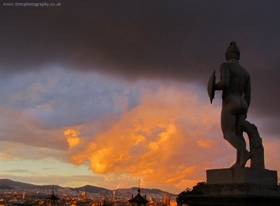Barcelona - Statue and Sky - Tim Copsey