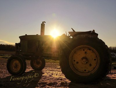 The Dust Dances as Sunsets, One of Farmings Very Best!