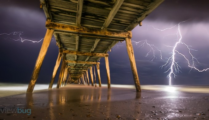 Pier of Lightning by ShannonRogers1 - Playing With Light Photo Contest