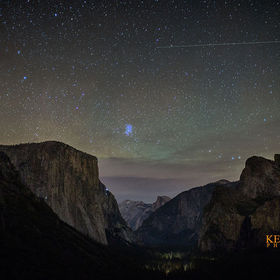 A HDR photo of Yosemite Valley with its magical night star lit sky, created at the darkest part of the night.  I only used 5 images to create thi...